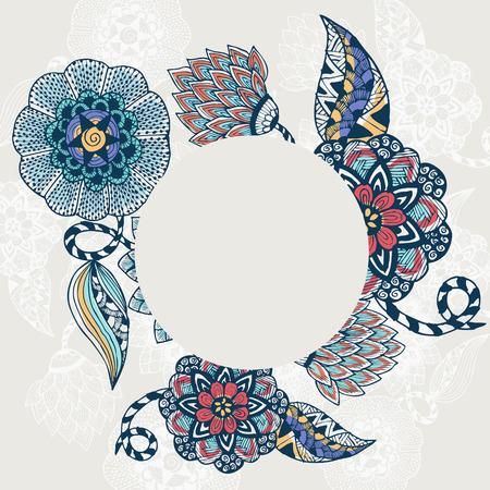vintage ornament: floral pattern background Illustration