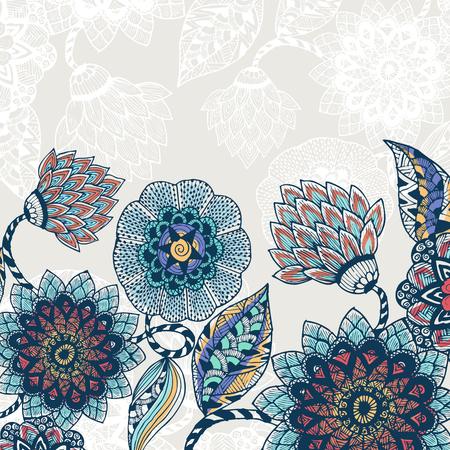 pattern background: floral pattern background Illustration