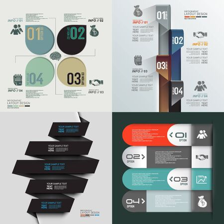 phonographic: minimal info graphics design