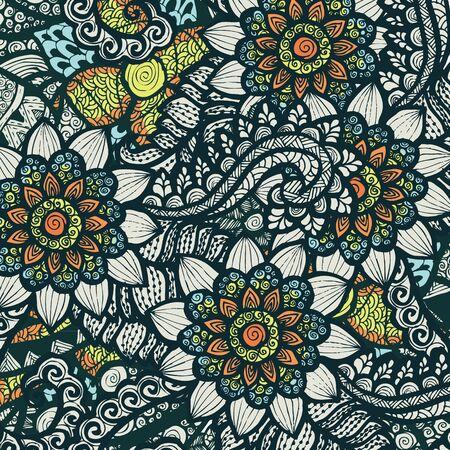 abstract illustration: floral pattern background Illustration