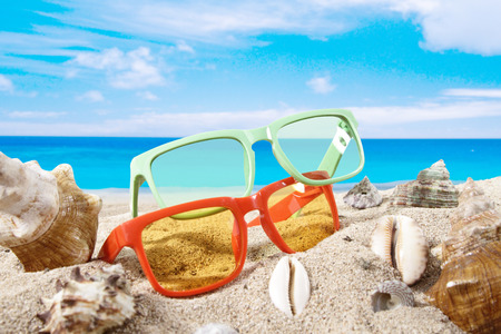 accesories: Beach accesories for summer background