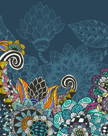 floral vectors: floral background