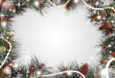 silver balls: Christmas background