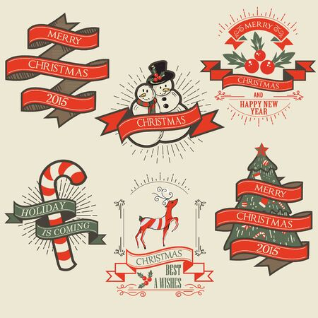 christmas parties: Christmas Decoration Vector Design Elements