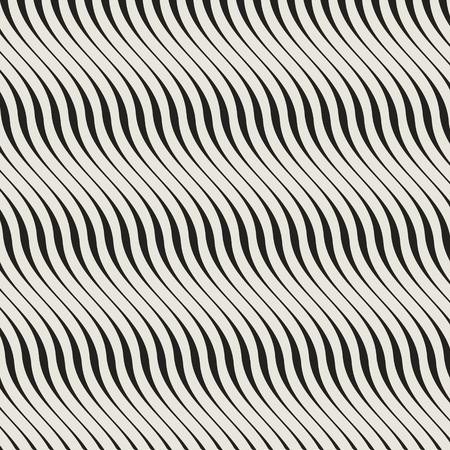 crimp: wave linear grid from striped elements Illustration
