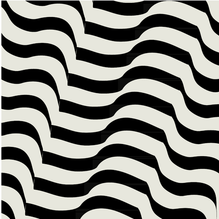 repeat pattern: wave linear grid from striped elements Illustration