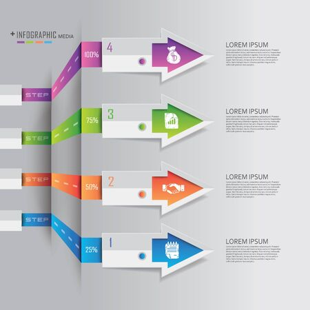 elements: Business finance Info graphics origami style illustration
