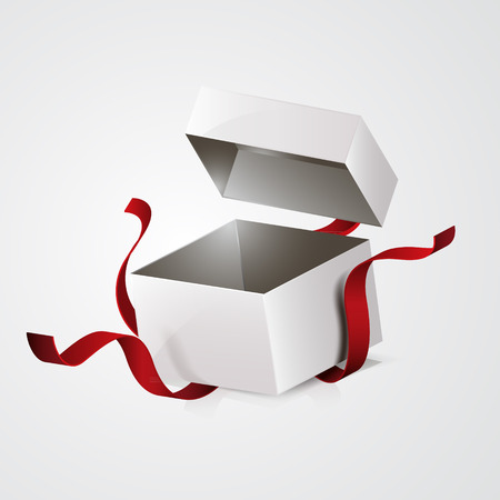 box open: open gift box design template