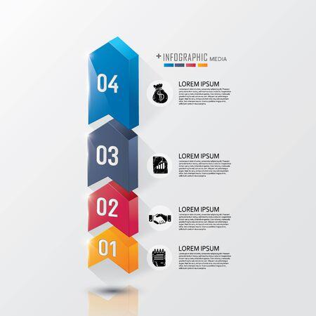 pasos para el éxito de negocios modernos Ilustración de vector