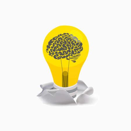 idea bulb: light bulb idea torn up from ripped paper