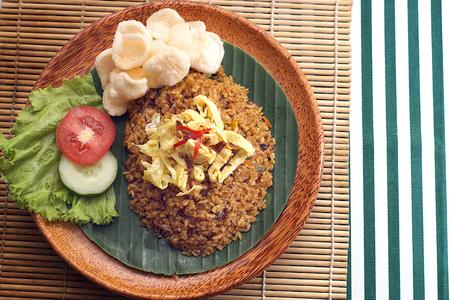 arroz blanco: arroz frito en la comida tradicional