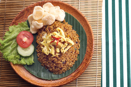 white rice: fried rice in traditional food Stock Photo