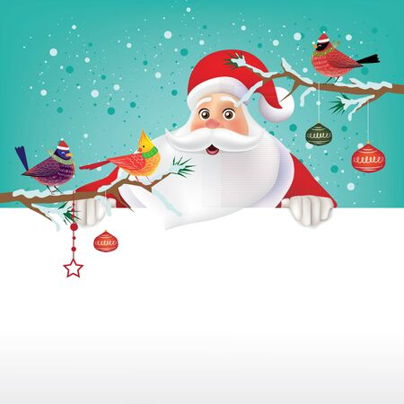 Santa Claus for Christmas background