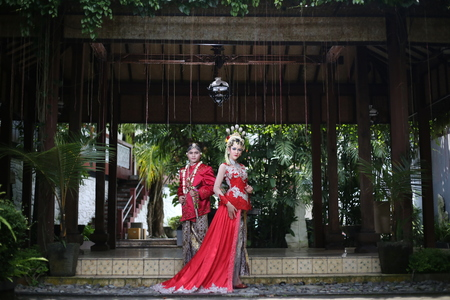 asian business man: traditional royal wedding dress from java indonesia