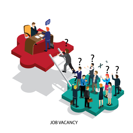 Decorative business job vacancy isometric