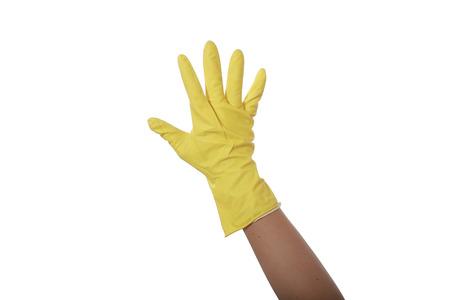 La mano atractiva hace alto cinco Foto de archivo