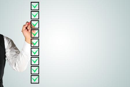 hand writing check box list