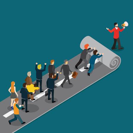 A businessman leading the way to success Illustration