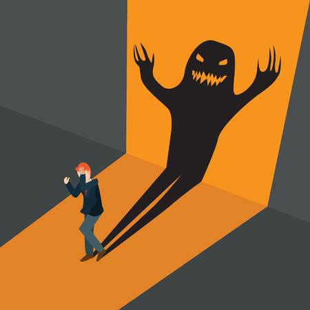 business afraid frightening shadows