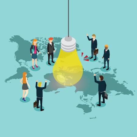 Idea creativa para negocios en el mundo.