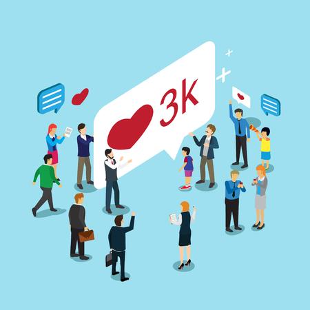 Business-Technologie Internet-Medien mögen und teilen