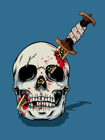 Halloween skull illustration