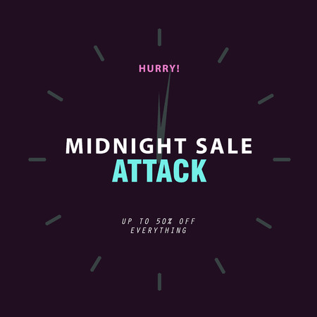 sale banner template background for midnight sale