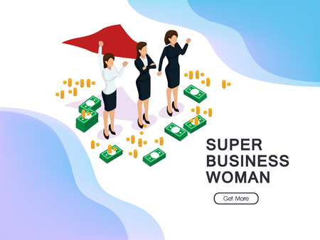 super business women's equality and achievements Vettoriali