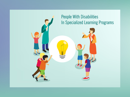 People with disabilities in specialized learning programs
