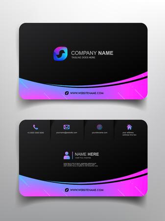 Visitenkarten-Vorlagen-Design mit einfachem Design