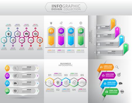 Szablon graficzny informacji o geometrii Ilustracje wektorowe