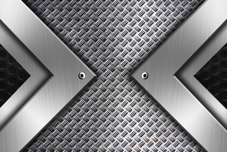 Modern metal framing background template Reklamní fotografie