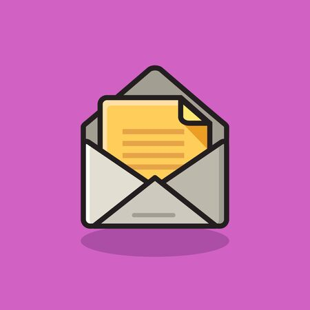 message icon with flat design concept Иллюстрация