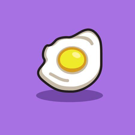 frying egg icon for food design Иллюстрация