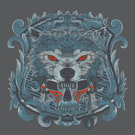 wolf chief with renaissance heraldry