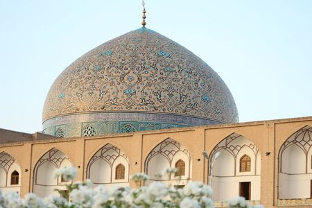 Sheikh Lotfollah Mosque in Esfahan naghsh jahanSquare Stock Photo