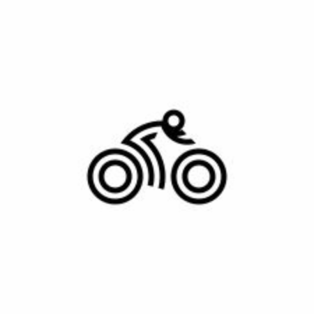 bike logo, bicycle icon 일러스트