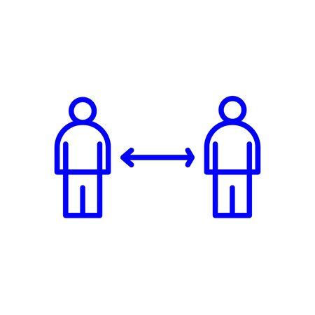 social distancing, social distance icon vector eps