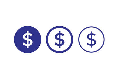 money dollar icon circle vector