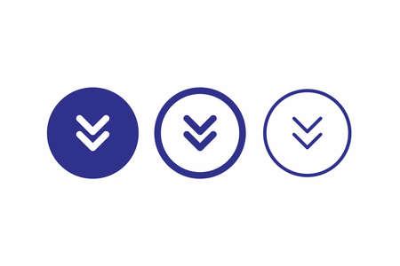 download icon circle blue