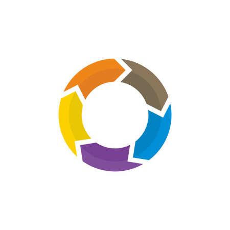 4 arrow circle symbol infographic vector Archivio Fotografico - 150632966