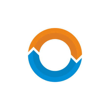 2 arrow circle symbol vector