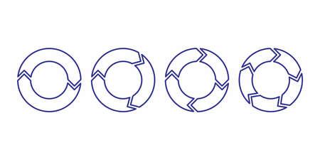 arrow circle symbol infographic icon Archivio Fotografico - 150632972