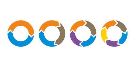 infographic circle arrow icon vector Archivio Fotografico - 150633152