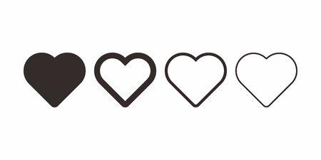 love icon symbol variation Vettoriali