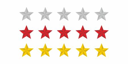 five stars icon symbol Illusztráció