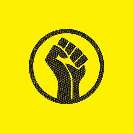 black lives matter symbol sign vector Vettoriali