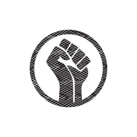 black lives matter sign symbol vector Vettoriali