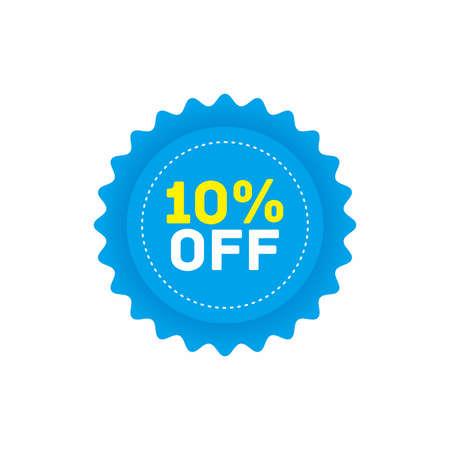 10% off big sale badge sticker, banner vector