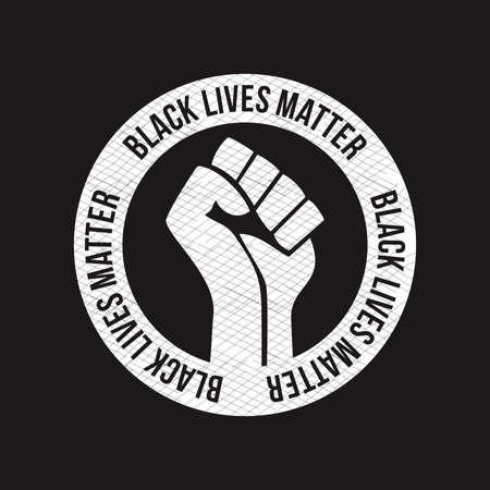 black lifes matter protes sign symbol vector